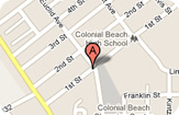 Map of 312 1st Street, Colonial Beach, Va.